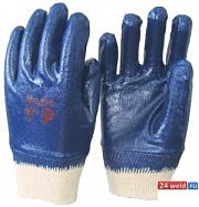 Перчатки нитриловые с полным покрытием(манжет - резинка)
